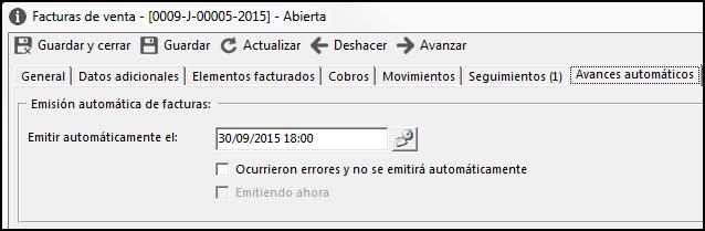 Emisión automática